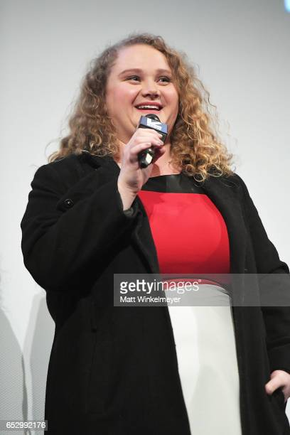 Actress Danielle Macdonald speaks onstage during the 'Patti Cake$' premiere 2017 SXSW Conference and Festivals on March 13 2017 in Austin Texas