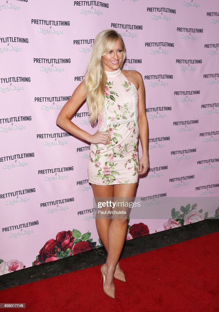 Actress Danielle Moinet attends the PrettyLittleThing X launch at Liaison Lounge on August 17, 2017 in Los Angeles, California.