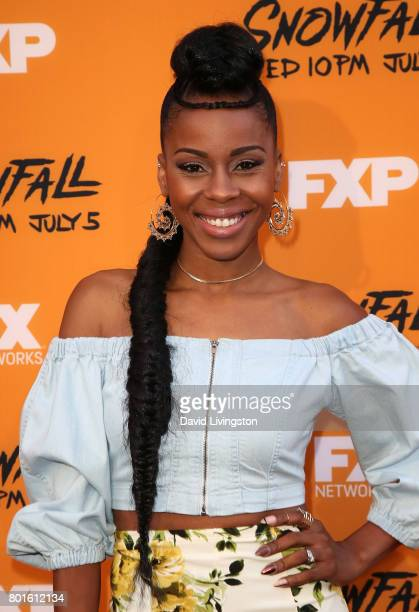 Actress Danielle Mone Truitt attends the premiere of FX's 'Snowfall' at The Theatre at Ace Hotel on June 26 2017 in Los Angeles California