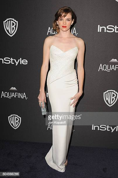 Actress Danielle Panabaker arrives at the 2016 InStyle And Warner Bros 73rd Annual Golden Globe Awards PostParty at The Beverly Hilton Hotel on...