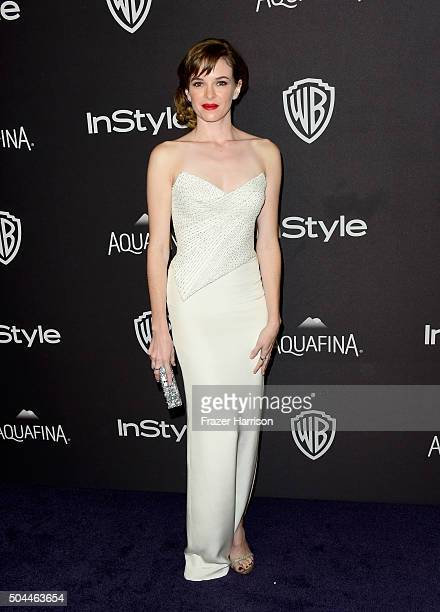 Actress Danielle Panabaker attends InStyle and Warner Bros 73rd Annual Golden Globe Awards PostParty at The Beverly Hilton Hotel on January 10 2016...