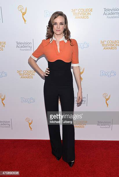 Actress Danielle Panabaker attends the 36th College Television Awards at Skirball Cultural Center on April 23 2015 in Los Angeles California