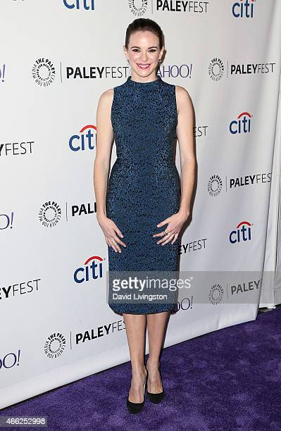 Actress Danielle Panabaker attends the 'Arrow' 'The Flash' event at The Paley Center For Media's 32nd Annual PALEYFEST LA at the Dolby Theatre on...