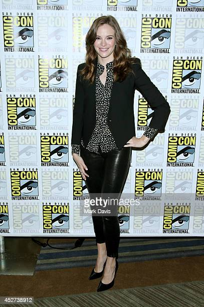 Actress Danielle Panabaker attends 'The Flash' press line during ComicCon International 2014 at Hilton Bayfront on July 26 2014 in San Diego...