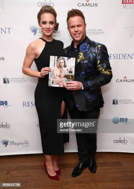 Actress Danielle Savre and Andrew Werner attend the 'Resident Magazine' March issue cover celebration held at Bagatelle on March 22 2017 in New York...