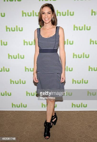 Actress Danielle Schneider attends Hulu's TCA Presentation And Cocktail Party at The Beverly Hilton Hotel on July 12 2014 in Beverly Hills California