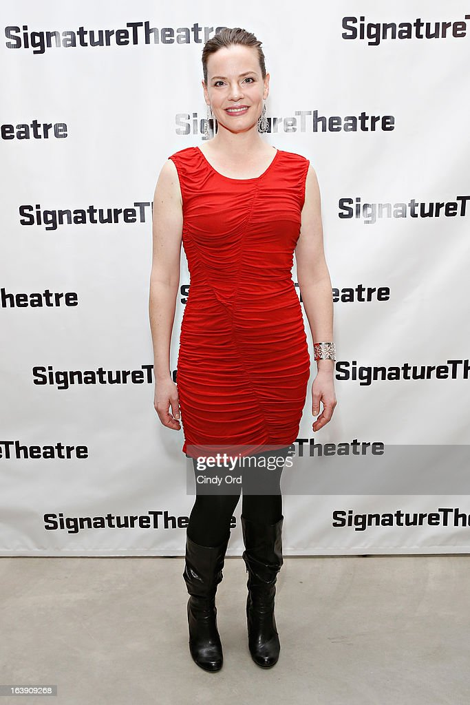 Actress Danielle Skraastad attends 'The Mound Builders' Opening Night Party at Signature Theatre Company's The Pershing Square Signature Center on March 17, 2013 in New York City.