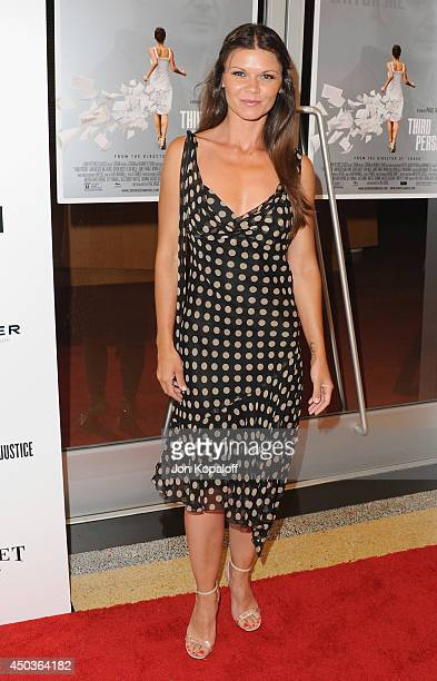 Actress Danielle Vasinova arrives at the Los Angeles Premiere 'Third Person' at Linwood Dunn Theater at the Pickford Center for Motion Study on June...