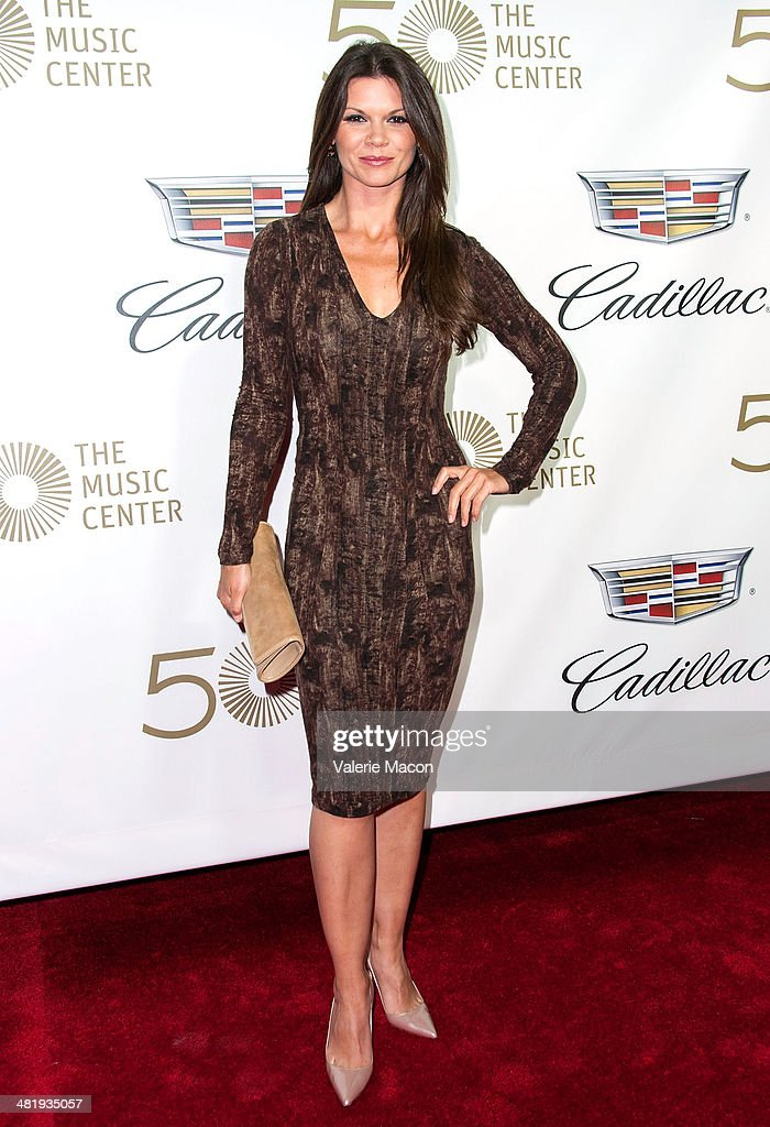 Actress <a gi-track='captionPersonalityLinkClicked' href=/galleries/search?phrase=Danielle+Vasinova&family=editorial&specificpeople=732569 ng-click='$event.stopPropagation()'>Danielle Vasinova</a> arrives at The Music Center's 50th Anniversary Launch Party at Dorothy Chandler Pavilion on April 1, 2014 in Los Angeles, California.
