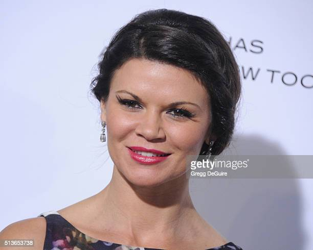 Actress Danielle Vasinova arrives at the premiere of Columbia Pictures And Village Roadshow Pictures 'The Brothers Grimsby' at Regency Village...