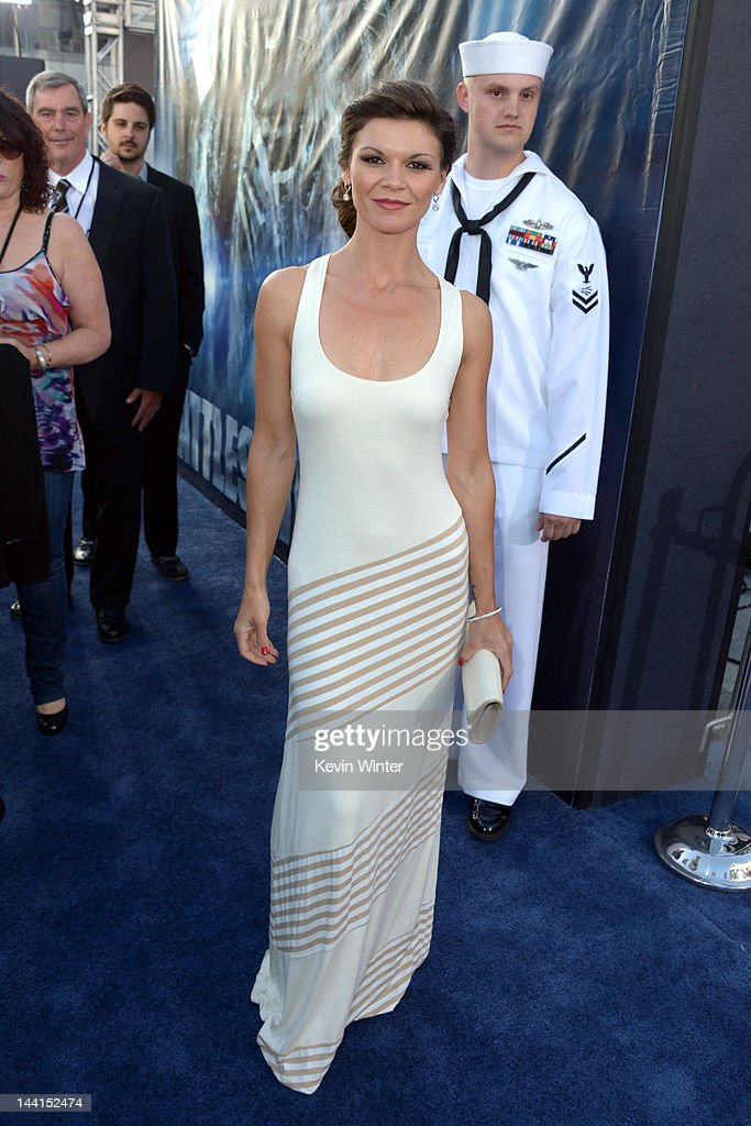 Actress Danielle Vasinova arrives at the premiere of Universal Pictures' 'Battleship' at Nokia Theatre L.A. Live on May 10, 2012 in Los Angeles, California.
