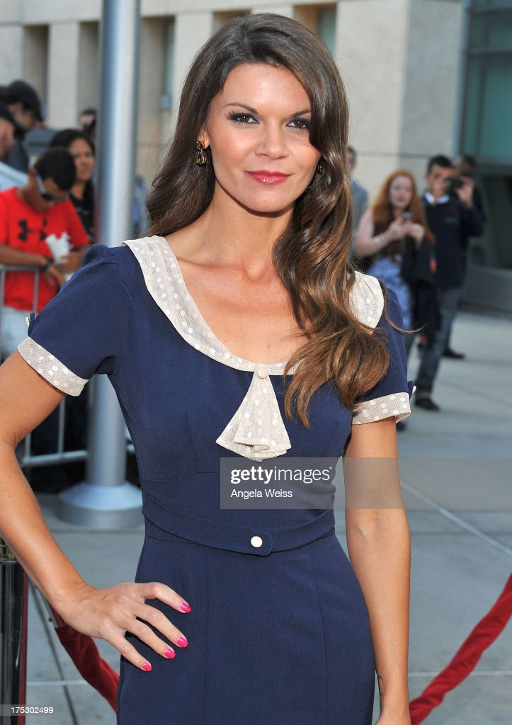 Actress Danielle Vasinova arrives at the Screening of Magnolia Pictures' 'I Give It A Year' at ArcLight Hollywood on August 1, 2013 in Hollywood, California.