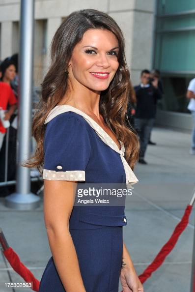 Actress Danielle Vasinova arrives at the Screening of Magnolia Pictures' 'I Give It A Year' at ArcLight Hollywood on August 1 2013 in Hollywood...