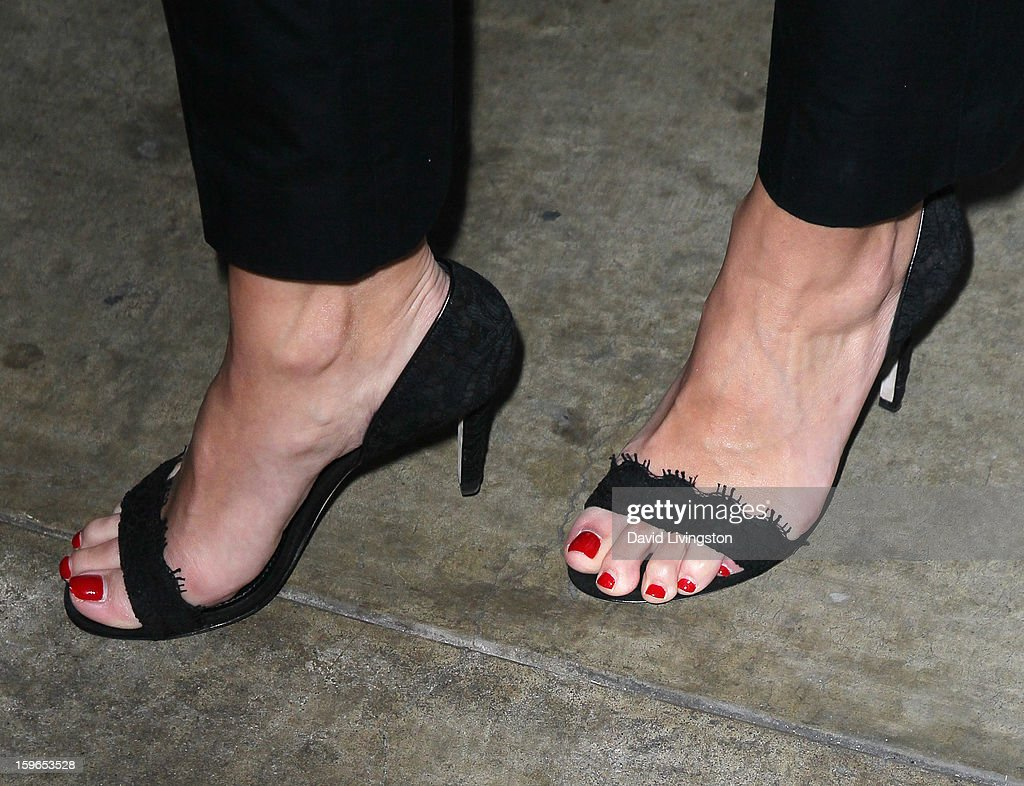 Actress Danielle Vasinova (shoe detail) attends the 'Directors Series' 2nd Annual Commemorative Ticket press event presented by Red Line Tours at the Egyptian Theatre on January 17, 2013 in Hollywood, California.