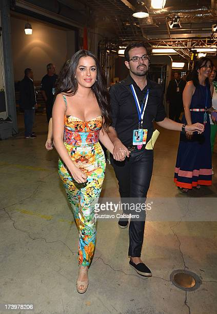 Actress Danna Garcia poses backstage during the Premios Juventud 2013 at Bank United Center on July 18 2013 in Miami Florida