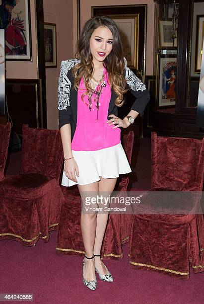 Actress Danna Paola attends a press conference and meet and greet at SIR Los Angeles on January 21 2014 in Los Angeles California