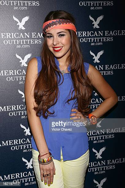 Actress Danna Paola attends the opening of the American Eagle Mexico City store at Centro Comercial Perisur on February 19 2013 in Mexico City Mexico