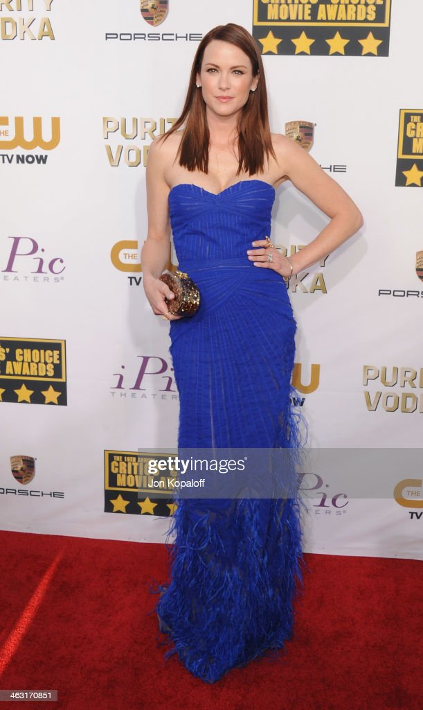 Actress Danneel Ackles arrives at the 19th Annual Critics' Choice Movie Awards at Barker Hangar on January 16, 2014 in Santa Monica, California.