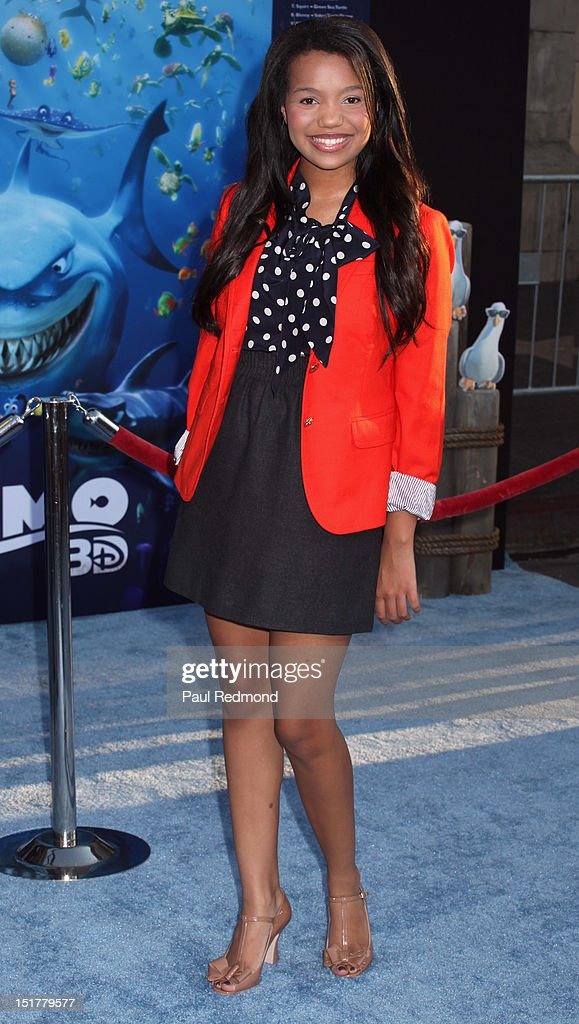 Actress Daphne Blunt arrives at 'Finding Nemo' Disney Digital 3D - Los Angeles Premiere at the El Capitan Theatre on September 10, 2012 in Hollywood, California.
