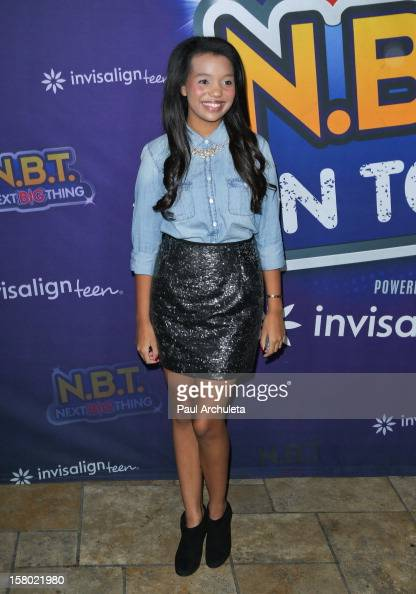 Actress Daphne Blunt attends the Radio Disney's 'NBT' season five winner announcements at The Americana at Brand on December 8 2012 in Glendale...