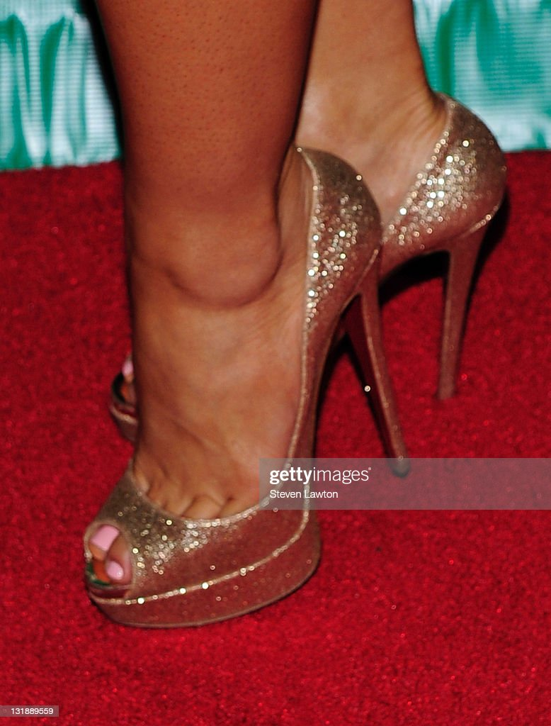 Actress Daphne Joy (shoes detail) arrives to host an evening at Chateau Nightclub & Gardens on June 3, 2011 in Las Vegas, Nevada.