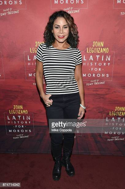 Actress Daphne RubinVega attends 'Latin History For Morons' Broadway Opening Night at Studio 54 on November 15 2017 in New York City