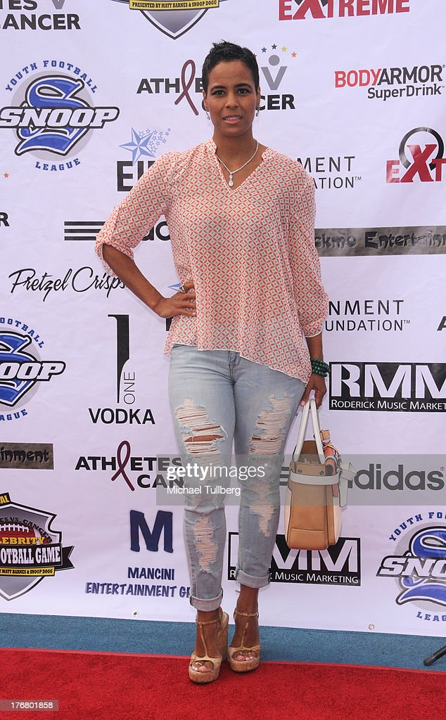 Actress Daphne Wayans attends the First Annual Celebrity Flag Football Game on August 18, 2013 in Pacific Palisades, California.