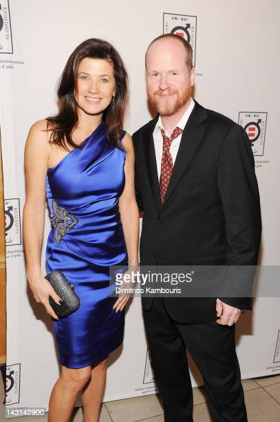 Actress Daphne Zuniga and filmmaker Joss Whedon attend Equality Now's 20th Anniversary Fundraiser at Asia Society on April 19 2012 in New York City
