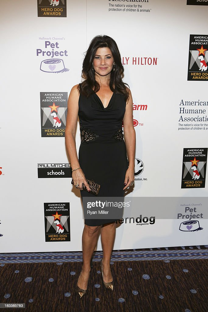 Actress Daphne Zuniga poses during the American Humane Association Hero Dog Awards 2013 held at the Beverly Hilton Hotel on Saturday, Oct. 5, 2013, in Beverly Hills, California.