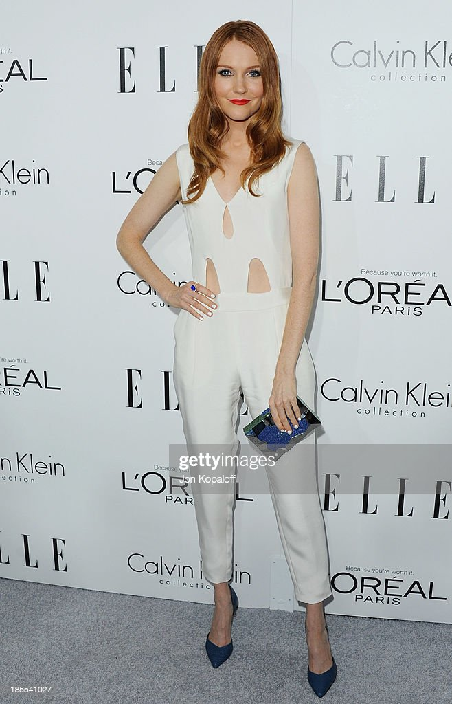 Actress <a gi-track='captionPersonalityLinkClicked' href=/galleries/search?phrase=Darby+Stanchfield&family=editorial&specificpeople=4068945 ng-click='$event.stopPropagation()'>Darby Stanchfield</a> arrives at ELLE Celebrates 20th Annual Women In Hollywood Event at Four Seasons Hotel Los Angeles at Beverly Hills on October 21, 2013 in Beverly Hills, California.