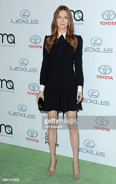 Actress Darby Stanchfield arrives at Environmental Media Association Hosts Its 25th Annual EMA Awards Presented By Toyota And Lexus at Warner Bros...