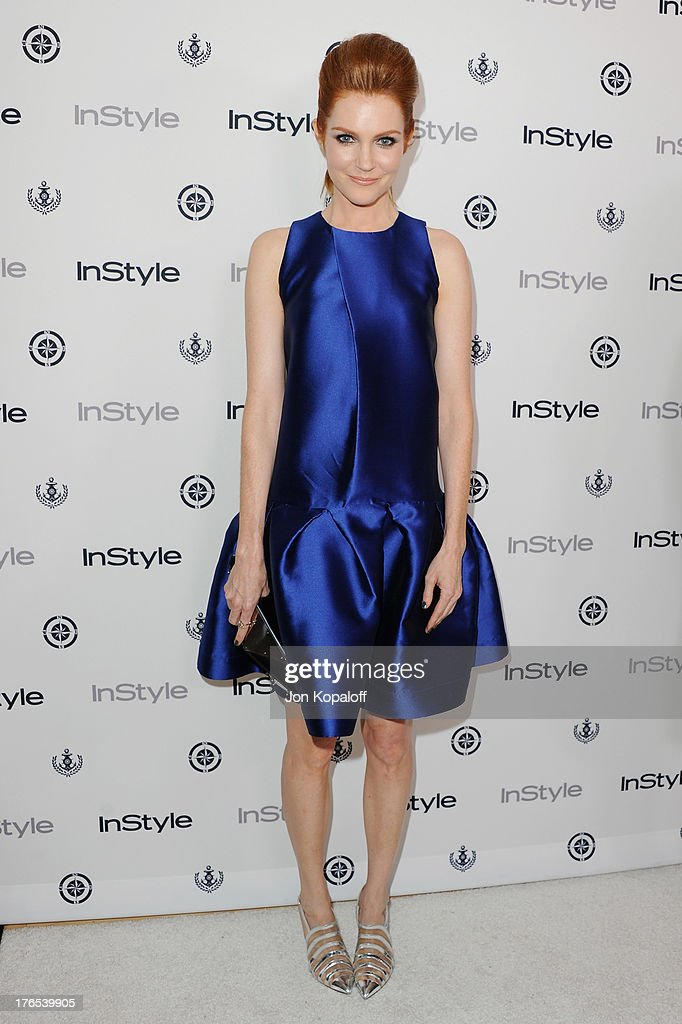 Actress <a gi-track='captionPersonalityLinkClicked' href=/galleries/search?phrase=Darby+Stanchfield&family=editorial&specificpeople=4068945 ng-click='$event.stopPropagation()'>Darby Stanchfield</a> arrives at the 13th Annual InStyle Summer Soiree at Mondrian Los Angeles on August 14, 2013 in West Hollywood, California.
