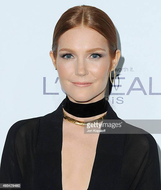 Actress Darby Stanchfield arrives at the 22nd Annual ELLE Women In Hollywood Awards at Four Seasons Hotel Los Angeles at Beverly Hills on October 19...