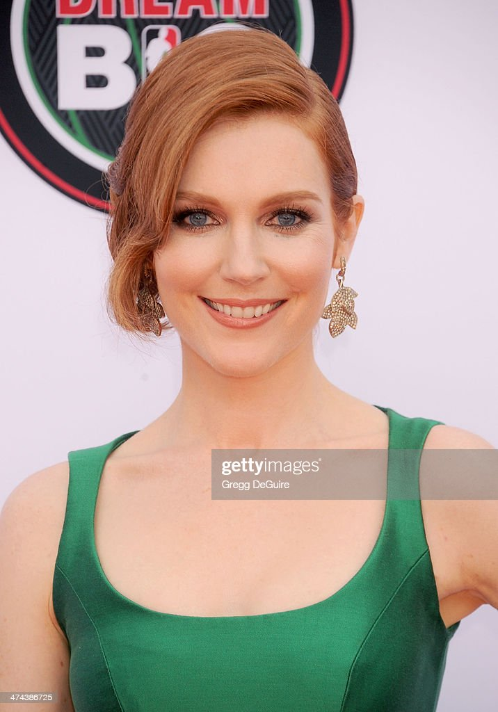 Actress Darby Stanchfield arrives at the 45th NAACP Image Awards at Pasadena Civic Auditorium on February 22, 2014 in Pasadena, California.