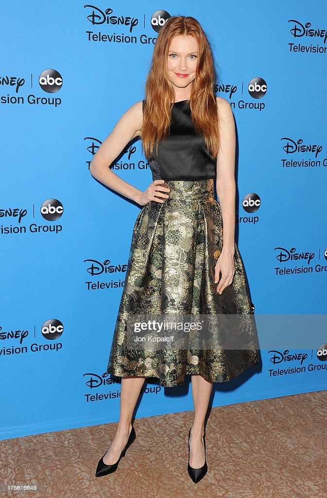 Actress Darby Stanchfield arrives at the Disney/ABC Party 2013 Television Critics Association's Summer Press Tour at The Beverly Hilton Hotel on August 4, 2013 in Beverly Hills, California.