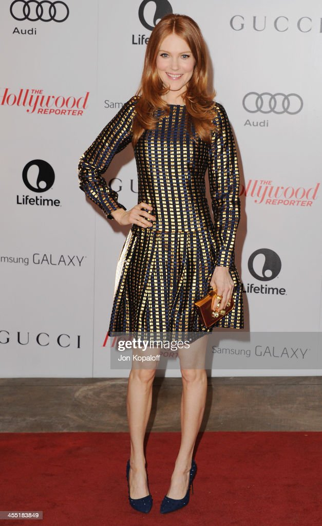 Actress <a gi-track='captionPersonalityLinkClicked' href=/galleries/search?phrase=Darby+Stanchfield&family=editorial&specificpeople=4068945 ng-click='$event.stopPropagation()'>Darby Stanchfield</a> arrives at The Hollywood Reporter's 22nd Annual Women In Entertainment Breakfast 2013 at Beverly Hills Hotel on December 11, 2013 in Beverly Hills, California.