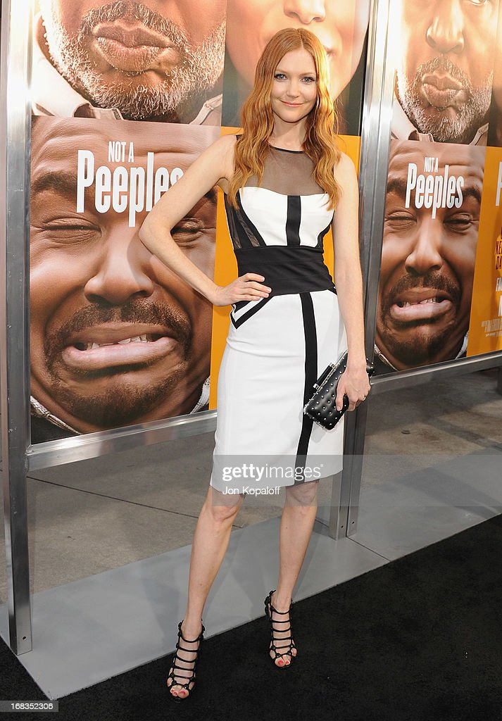 Actress Darby Stanchfield arrives at the Los Angeles Premiere 'Peeples' at ArcLight Hollywood on May 8, 2013 in Hollywood, California.