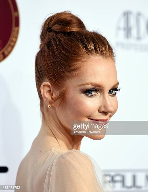 Actress Darby Stanchfield arrives at the MakeUp Artists Hair Stylists Guild Awards at the Paramount Theater on the Paramount Studios lot on February...