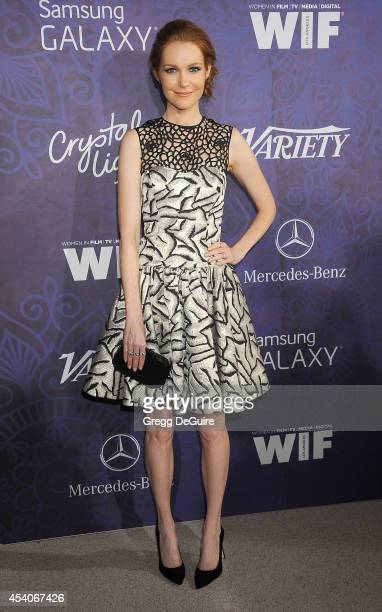Actress Darby Stanchfield arrives at the Variety And Women In Film Annual PreEmmy Celebration at Gracias Madre on August 23 2014 in West Hollywood...