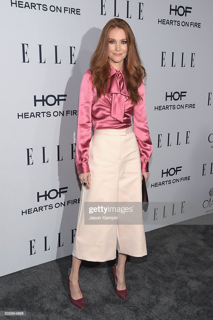 Actress Darby Stanchfield attends ELLE's 6th Annual Women In Television Dinner at Sunset Tower Hotel on January 20 2016 in West Hollywood California