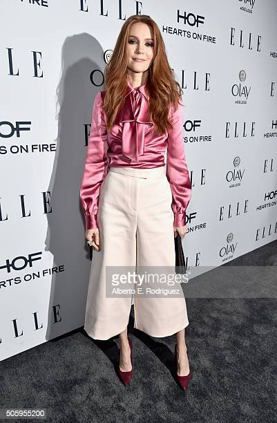 Actress Darby Stanchfield attends ELLE's 6th Annual Women in Television Dinner Presented by Hearts on Fire Diamonds and Olay at Sunset Tower on...
