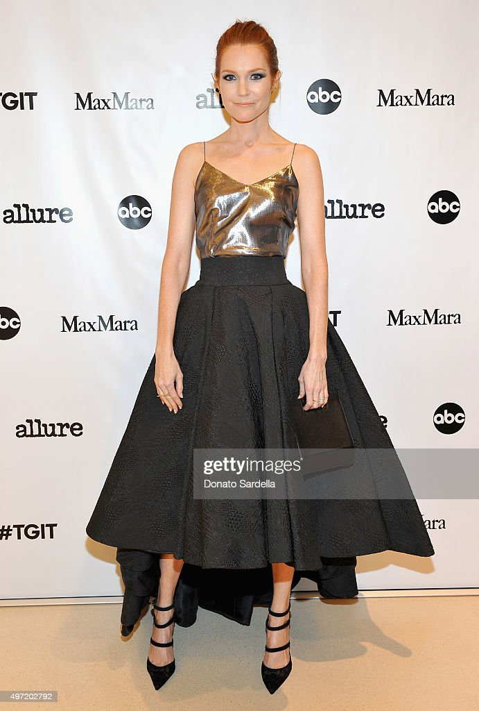 Actress Darby Stanchfield attends 'MaxMara & Allure Celebrate ABC's #TGIT' at MaxMara on November 14, 2015 in Beverly Hills, California.
