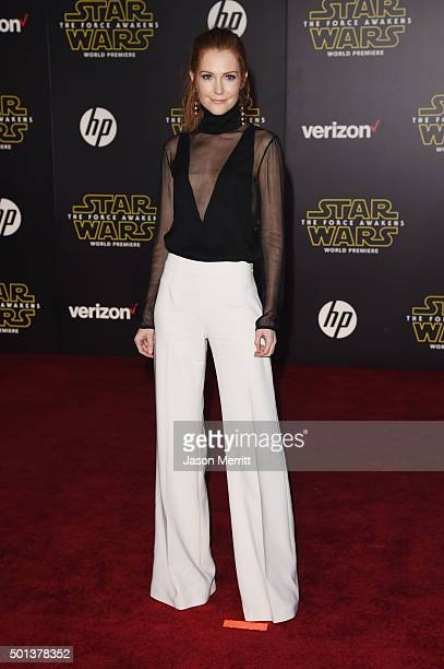 Actress Darby Stanchfield attends Premiere of Walt Disney Pictures and Lucasfilm's 'Star Wars The Force Awakens' on December 14 2015 in Hollywood...
