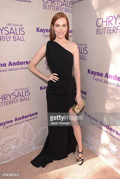 Actress Darby Stanchfield attends the 14th annual Chrysalis Butterfly Ball sponsored by Audi Kayne Anderson Lauren B Beauty and Z Gallerie on June 6...
