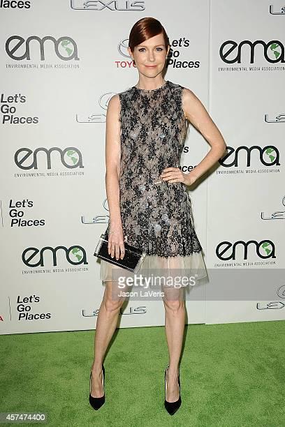 Actress Darby Stanchfield attends the 2014 Environmental Media Awards at Warner Bros Studios on October 18 2014 in Burbank California