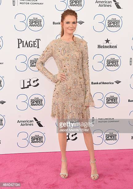 Actress Darby Stanchfield attends the 2015 Film Independent Spirit Awards at Santa Monica Beach on February 21 2015 in Santa Monica California