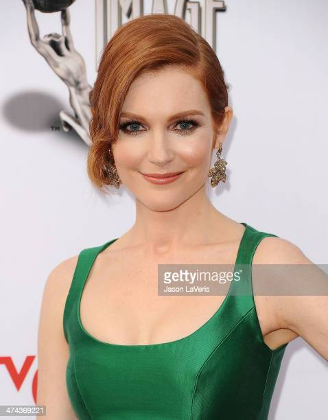Actress Darby Stanchfield attends the 45th NAACP Image Awards at Pasadena Civic Auditorium on February 22 2014 in Pasadena California