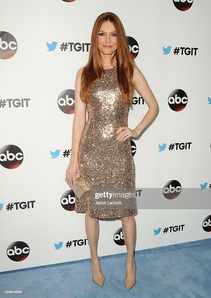 Actress Darby Stanchfield attends the #TGIT premiere event hosted by Twitter at Palihouse Holloway on September 20 2014 in West Hollywood California
