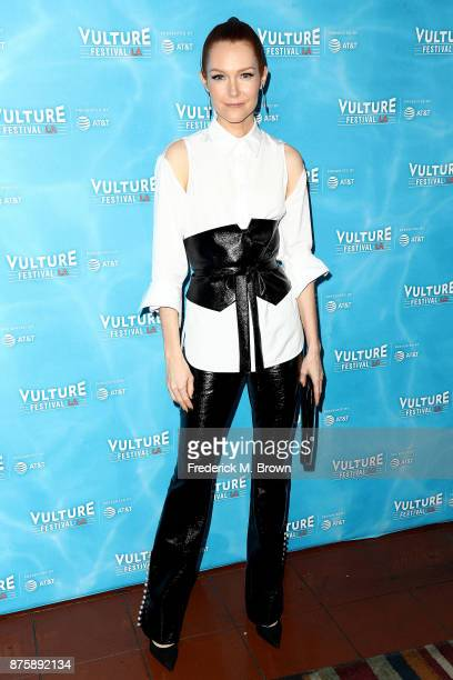 Actress Darby Stanchfield attends the Vulture Festival Los Angeles at the Hollywood Roosevelt Hotel on November 18 2017 in Hollywood California
