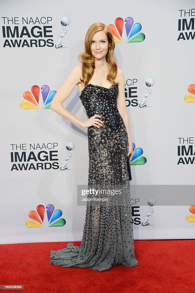 Actress Darby Stanchfield poses in the press room during the 44th NAACP Image Awards at The Shrine Auditorium on February 1, 2013 in Los Angeles, California.